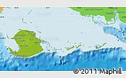 Physical Map of Isla de la Juventud, political outside
