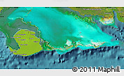 Physical Map of Isla de la Juventud, satellite outside