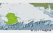 Physical Map of Isla de la Juventud, semi-desaturated