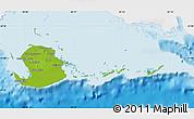 Physical Map of Isla de la Juventud, single color outside