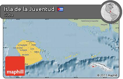 Savanna Style Map of Isla De La Juventud