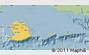 Savanna Style Map of Isla de la Juventud, single color outside
