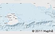 Silver Style Map of Isla de la Juventud, single color outside