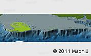 Physical Panoramic Map of Isla de la Juventud, darken