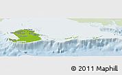 Physical Panoramic Map of Isla de la Juventud, lighten