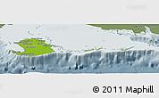 Physical Panoramic Map of Isla de la Juventud, semi-desaturated
