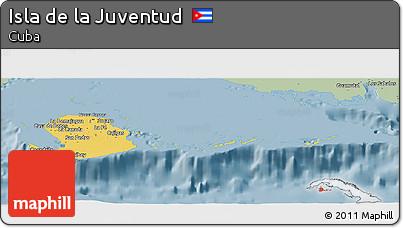 Savanna Style Panoramic Map of Isla De La Juventud