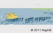 Savanna Style Panoramic Map of Isla de la Juventud, single color outside