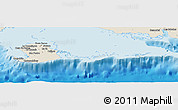 Shaded Relief Panoramic Map of Isla de la Juventud