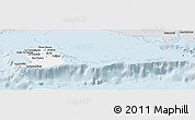 Silver Style Panoramic Map of Isla de la Juventud