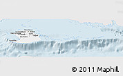 Silver Style Panoramic Map of Isla de la Juventud, single color outside