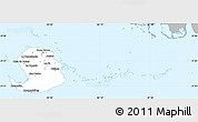 Gray Simple Map of Isla de la Juventud