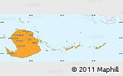 Political Simple Map of Isla de la Juventud, single color outside