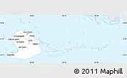 Silver Style Simple Map of Isla de la Juventud, single color outside