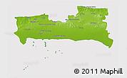 Physical 3D Map of La Habana, cropped outside