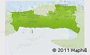 Physical 3D Map of La Habana, lighten