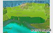 Physical 3D Map of La Habana, satellite outside