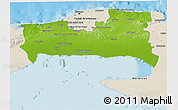 Physical 3D Map of La Habana, shaded relief outside