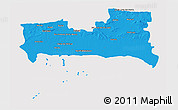Political 3D Map of La Habana, cropped outside