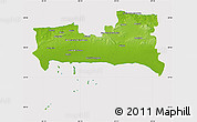 Physical Map of La Habana, cropped outside