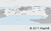 Gray Panoramic Map of La Habana