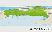 Physical Panoramic Map of La Habana, shaded relief outside