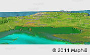 Satellite Panoramic Map of La Habana