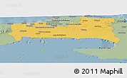 Savanna Style Panoramic Map of La Habana