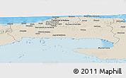 Shaded Relief Panoramic Map of La Habana