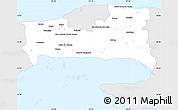 Silver Style Simple Map of La Habana, single color outside