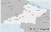 Gray 3D Map of Las Tunas