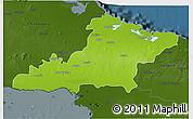 Physical 3D Map of Las Tunas, darken