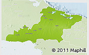 Physical 3D Map of Las Tunas, lighten