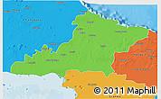 Political 3D Map of Las Tunas
