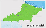 Political 3D Map of Las Tunas, single color outside