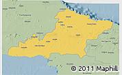 Savanna Style 3D Map of Las Tunas
