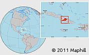 Gray Location Map of Las Tunas