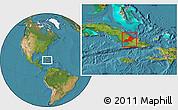 Satellite Location Map of Las Tunas