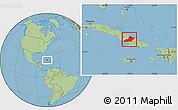 Savanna Style Location Map of Las Tunas