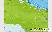 Physical Map of Las Tunas