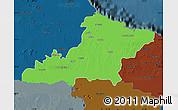 Political Map of Las Tunas, darken