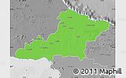 Political Map of Las Tunas, desaturated