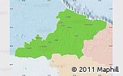 Political Map of Las Tunas, lighten