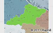 Political Map of Las Tunas, semi-desaturated