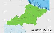 Political Map of Las Tunas, single color outside