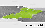 Physical Panoramic Map of Las Tunas, desaturated