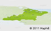 Physical Panoramic Map of Las Tunas, lighten