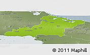 Physical Panoramic Map of Las Tunas, semi-desaturated