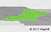 Political Panoramic Map of Las Tunas, desaturated