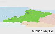 Political Panoramic Map of Las Tunas, lighten